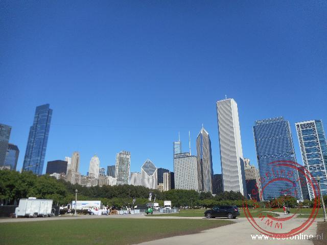 De skyline van de stad Chicago