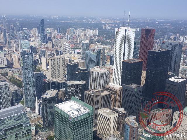 Het uitzicht op Toronto vanaf de CN Tower