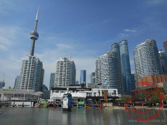 Uitzicht op de gebouwen van Toronto