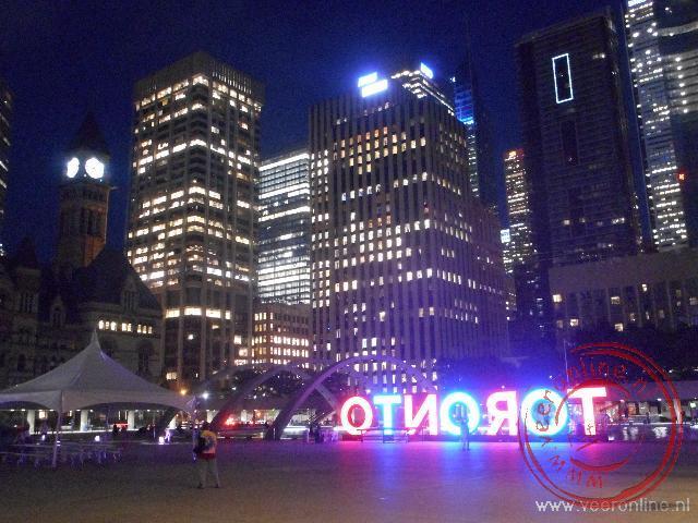 Het plein voor het stadhuis in Toronto