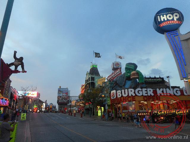 Het Candese stadje Niagara met toeristische atracties