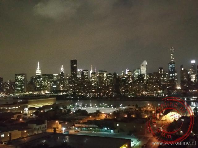 Het uitzicht vanuit het hotel op New York