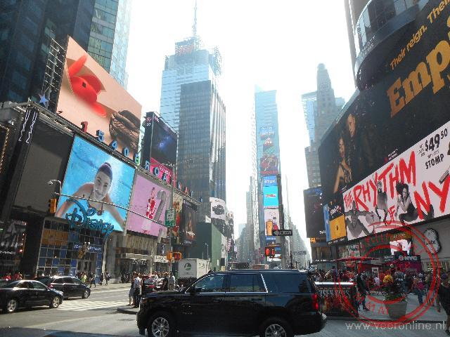 Lichtreclames op Time Square