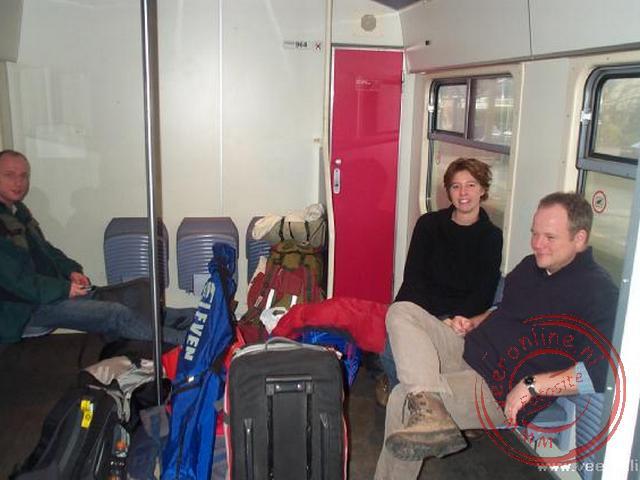 In de stoptrein op weg naar Utrecht