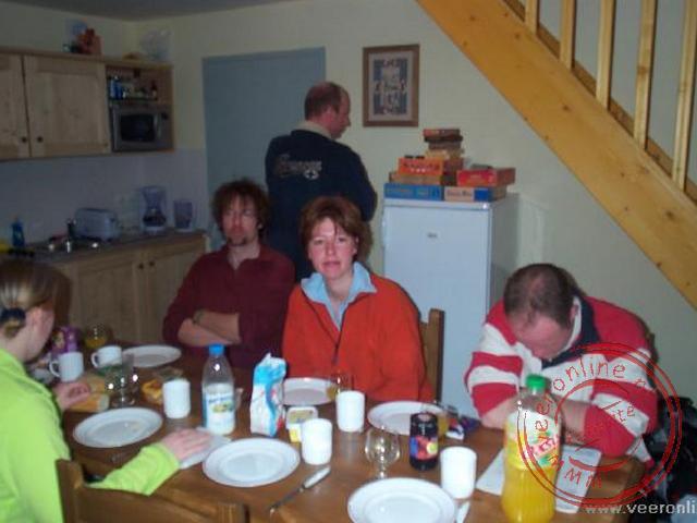 Ontbijten in het chalet