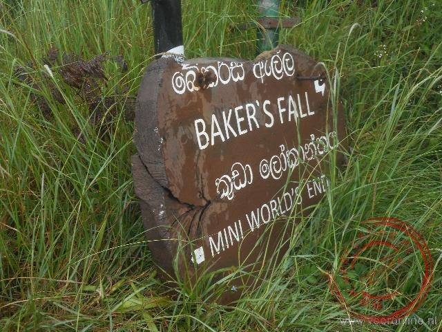 De route naar de Bakers Fall in Horton Plains N.P.