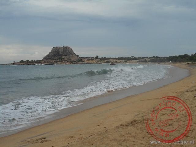 Het Nationale Park Yala ligt aan strand