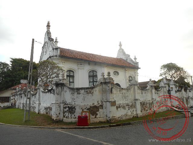 De Dutch church is in 1755 gebouwd in de huidige vorm