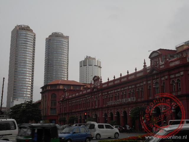 Het hoofdkantoor van de HSBC Bank in Colombo