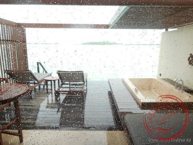 Zelfs op de Malediven kan het regenen