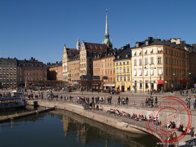 De kade van Munkbroleden in Stockholm