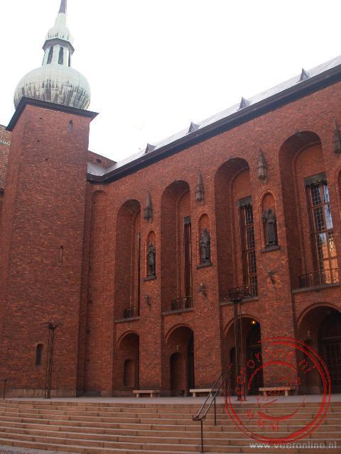 Het binnenplein van het Stadshuset (Stadhuis) van Stockholm