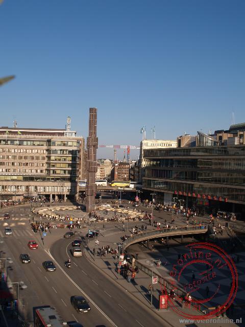 Het Sergels Torg plein in nieuw Stockholm