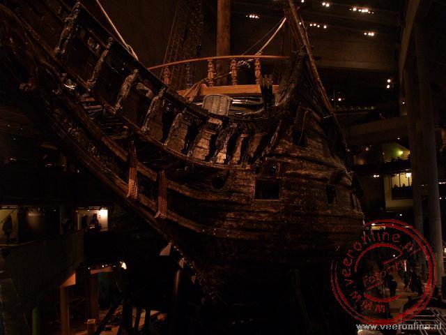 Het 17de eeuwse schip de Vasa is te bezichtigen in het museum