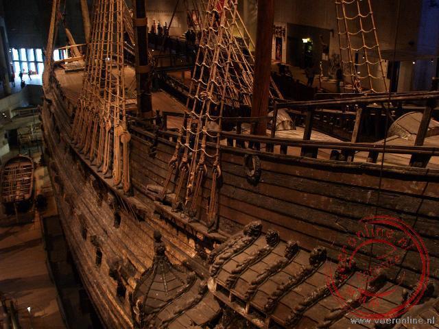 De Vasa in het Vasamuseet Stockholm