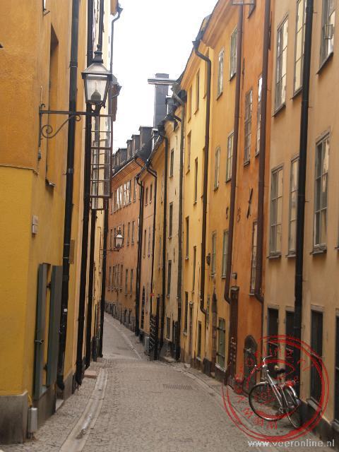 Gekleurde huisjes in Stockholm