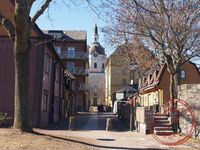 Fjallgaten is een straat uit het centrum met zeer oude huizen