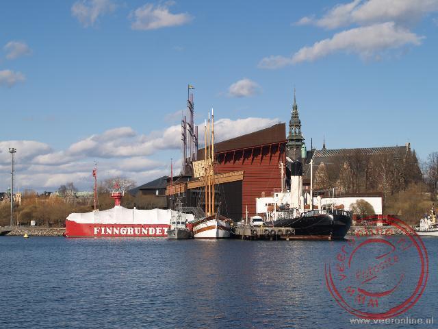 Het Vasamuseet met daarin het 17de eeuwse schip de Vasa