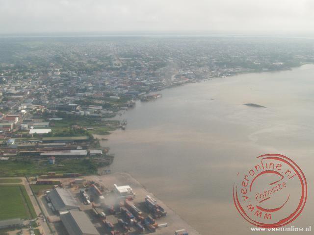 Paramaribo vanuit de lucht