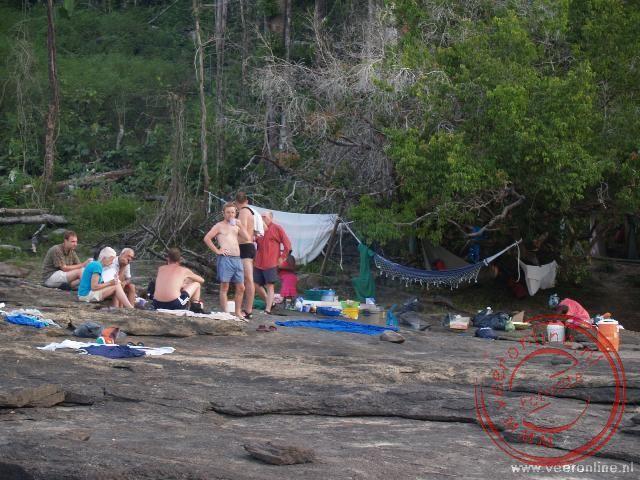 De kampsite bij Granda Futu