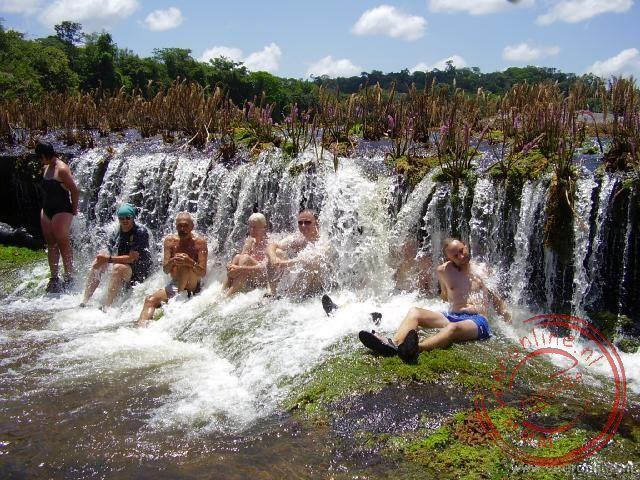 Even pauze met een douche onder de stroomversnelling