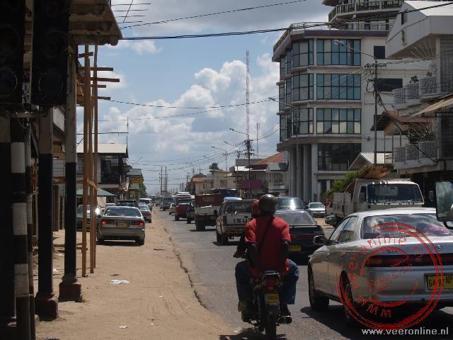 Het straatbeeld van Paramaribo