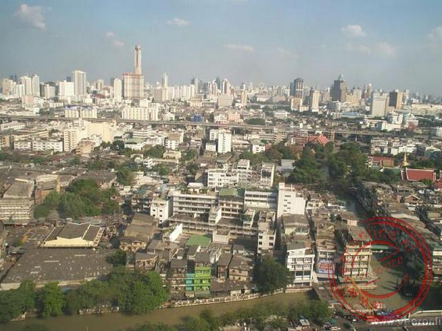 Het uitzicht vanuit het hotel vanaf de 21ste verdieping