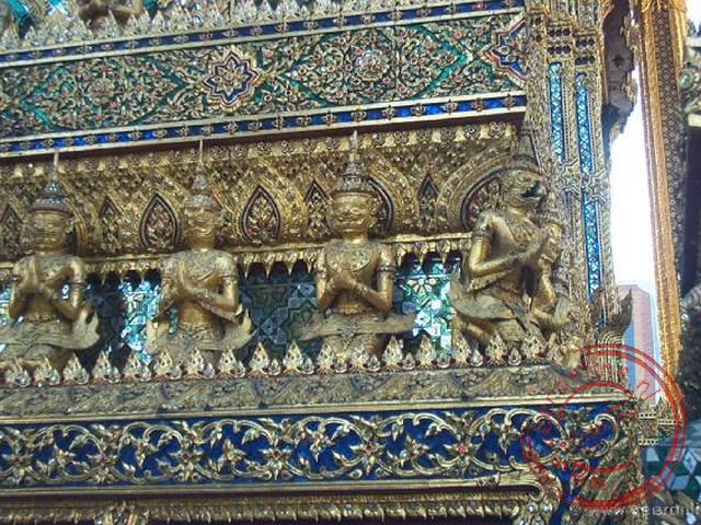 De decoratie van de tempels