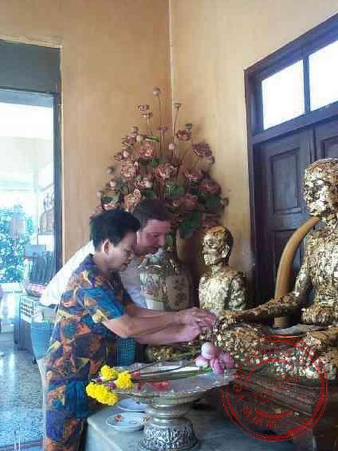 Offering aan Boeddha