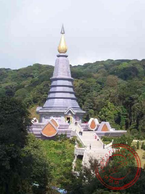De koninklijke chedis in het nationaal park Doi Inthanon