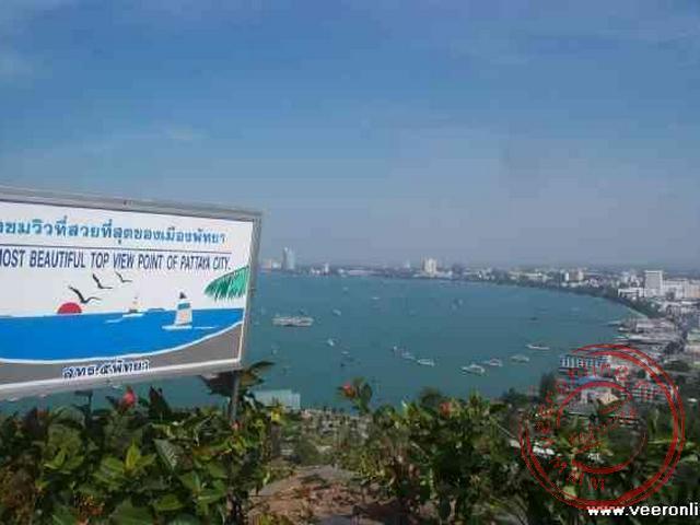 Het uitzichtpunt in Pattaya