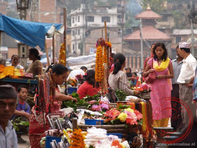 Een Nepalese markt in Kathmandu