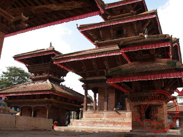 De tempels op het Durbar Square in Kathmandu