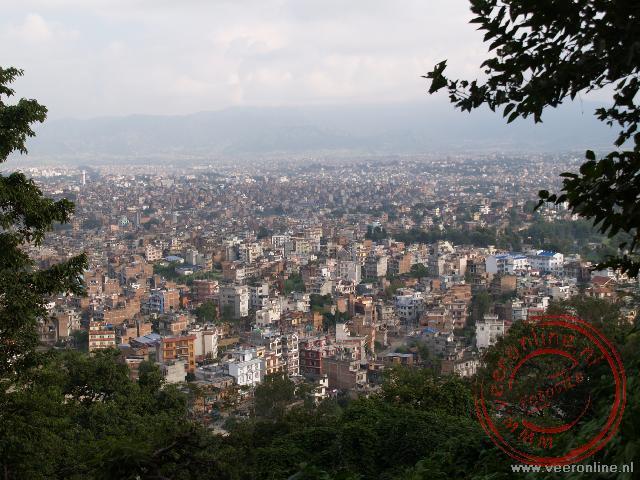 Uitzicht over Kathmandu in Nepal