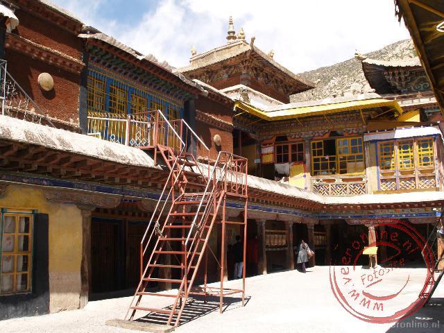 De bovenverdieping van het Drepung Klooster