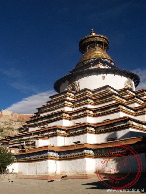 De Kumbum Stupa in het klooster van Gyantse