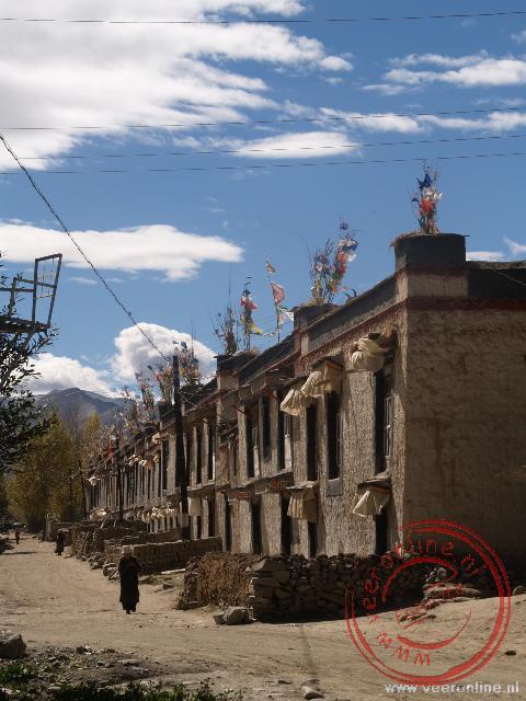Typisch Tibetaanse straten in Gyantse