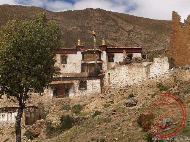 Het Ro-Tu klooster in de bergen bij Gyantse