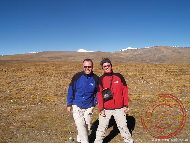 Op de top van de Gyatso-la pas op bijna 5.250 meter hoogte
