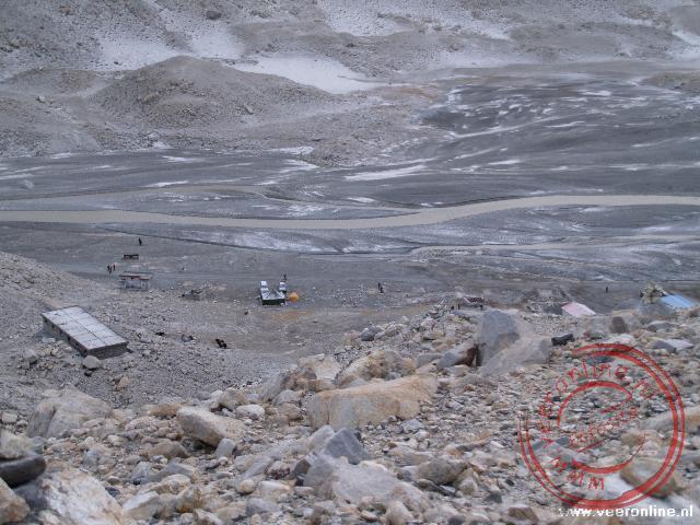 Het basecamp van de Mount Everest in Tibet