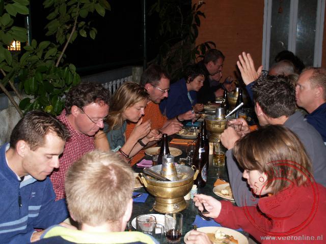 Het gezamenlijke diner tijdens de laatste avond