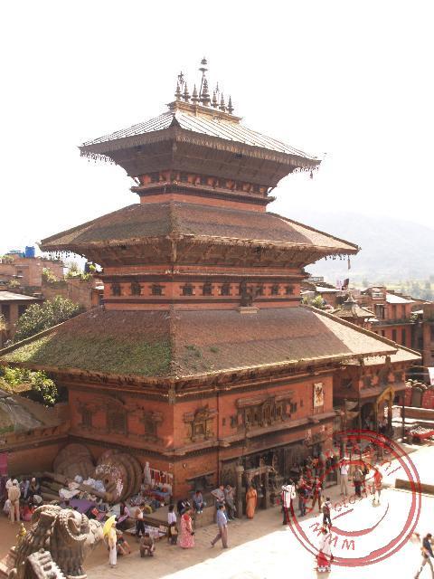 Het centrale plein bij de Bhaktapur