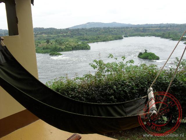 Vanuit de safaritent in Jinja is er een prachtig uitzicht over de Nijl