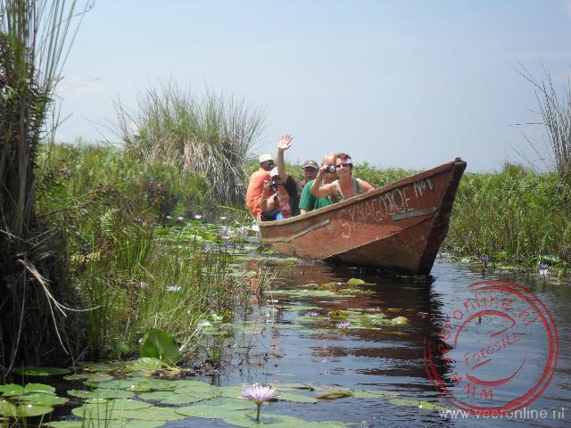 Met de kano door de wetlands van het Victoria Lake