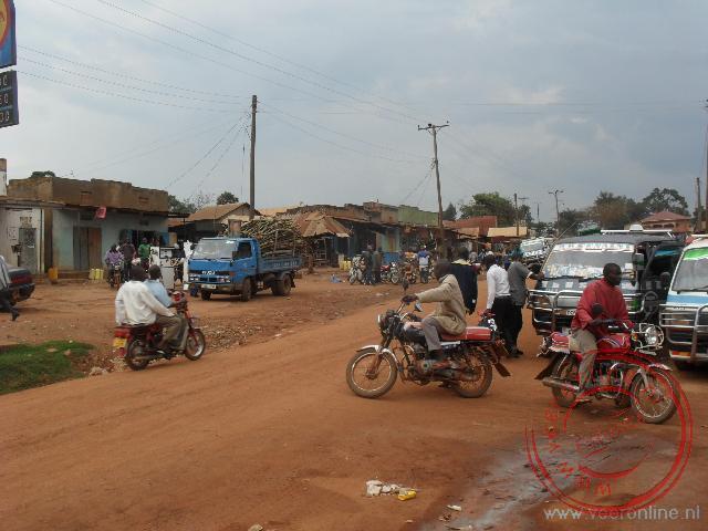 Het plaatsje Kasanje bij Entebbe