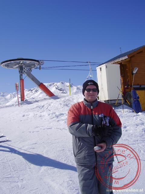 Martin net uit de skilift