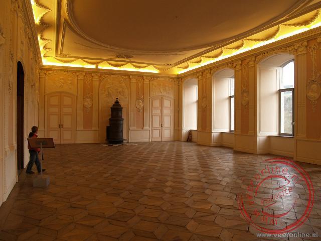 De grote zaal van het klooster van Stavelot