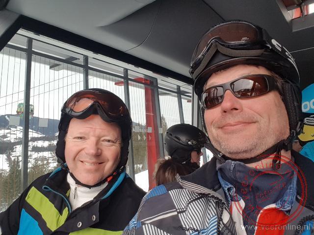 Klaar om in te stappen in de skilift