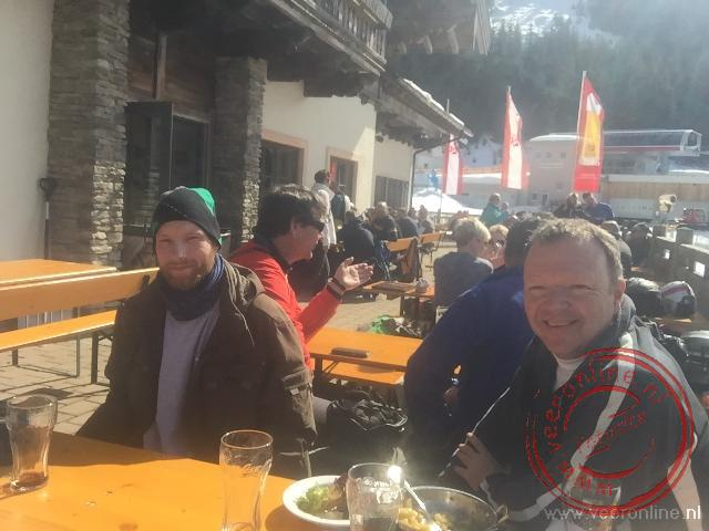 Eten tijdens het skien