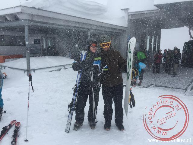 Ronald en Robert tijdens een korte sneeuwbui